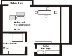 Bayersoier Hof - Ferienwohnung 3 - Wohnungsplan